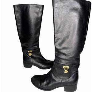 Michael Kors Black Hamilton Tall Boots